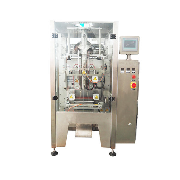 auto high-speed weighing and packing machine packing machine with 10 multihead weigher for grain nut puffy food